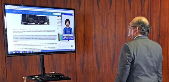 Ministro Gilmar Mendes anuncia a adoção do sistema Rybená pelo Portal do TSE