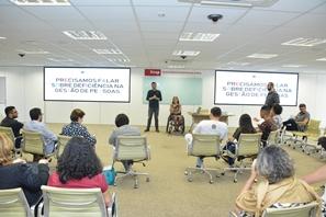 imagem sobre conversa sobre inclusão de pessoas com deficiência na gestão de pessoas.